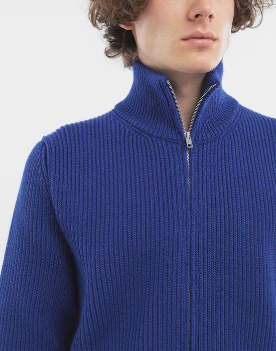 MAISON MARGIELA Zip-up rib knit jumper Cardigan [*** pickupInStoreShippingNotGuaranteed_info ***] b