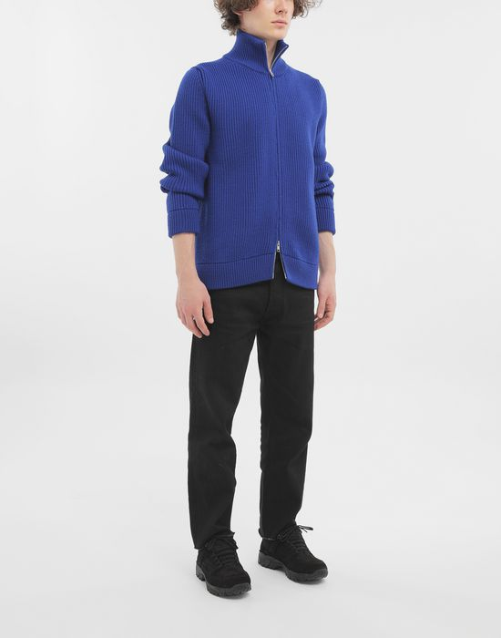 MAISON MARGIELA Zip-up rib knit jumper Cardigan [*** pickupInStoreShippingNotGuaranteed_info ***] d