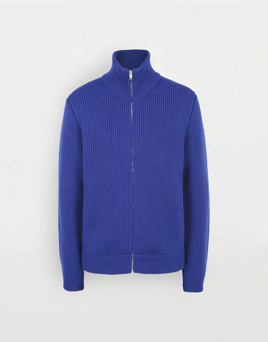 MAISON MARGIELA Zip-up rib knit jumper Cardigan [*** pickupInStoreShippingNotGuaranteed_info ***] f