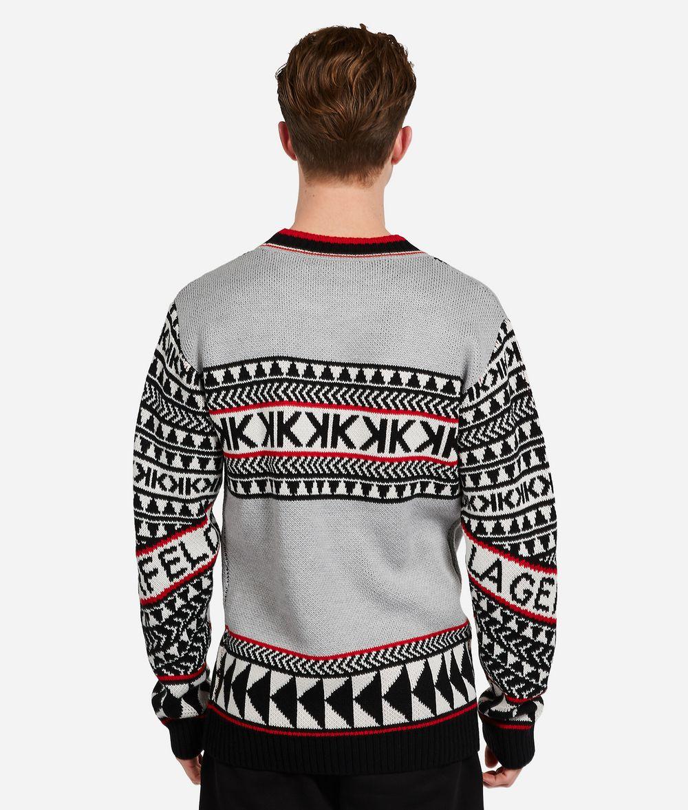 KARL LAGERFELD Wool Blend Fair Isle Sweater Sweater Man d