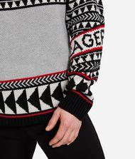 KARL LAGERFELD Wool Blend Fair Isle Sweater 9_f