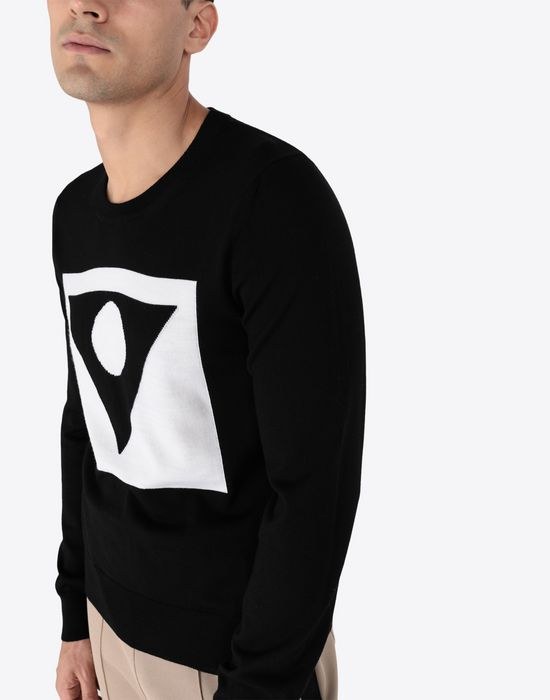 MAISON MARGIELA A/W 18-19 Défilé symbol print pullover Long sleeve sweater [*** pickupInStoreShippingNotGuaranteed_info ***] a