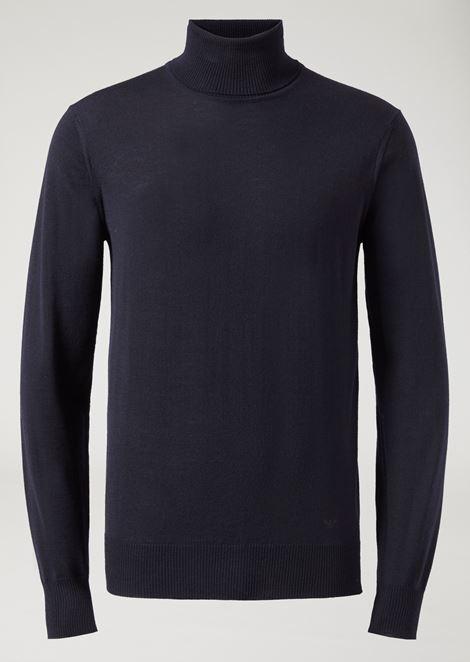 Pure virgin wool turtleneck sweater