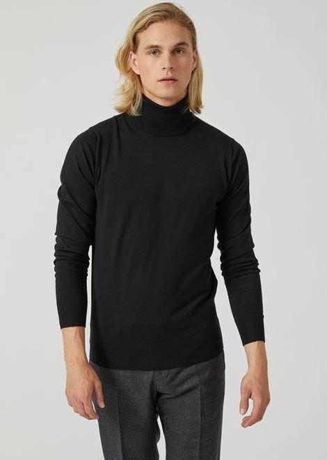 Turtleneck jumper in pure virgin wool