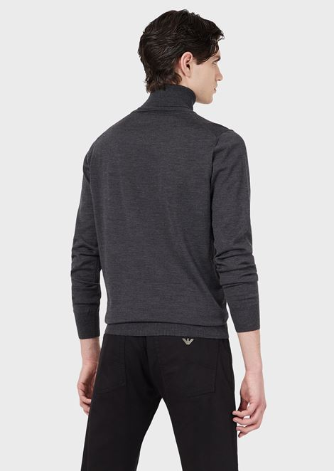 Turtleneck sweater in pure virgin wool