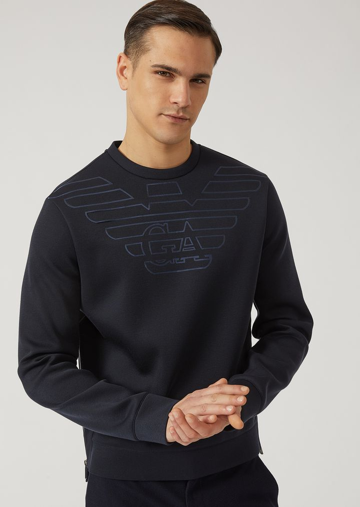 583465ee2aac4 Scuba sweatshirt with logo detail | Man | Emporio Armani