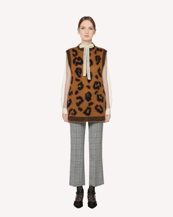 REDValentino Leopard intarsia mohair knit vest