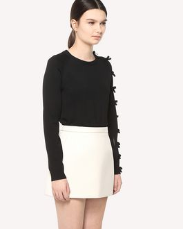 REDValentino Stretch viscose jumper with bow detail