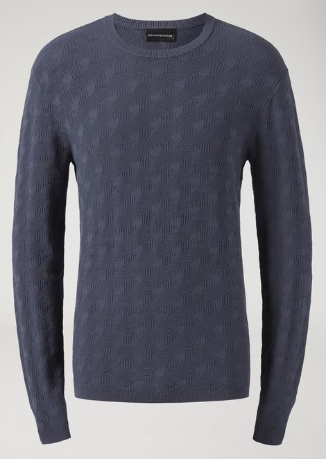 Sweater with all over jacquard pattern