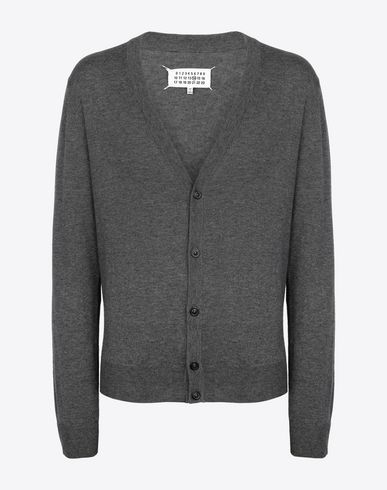 SWEATERS V-neck cardigan Grey