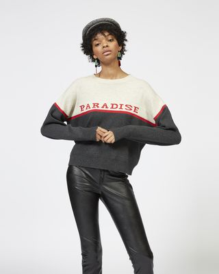 "ISABEL MARANT ÉTOILE LONG SLEEVE JUMPER Woman KEPSON ""Paradise"" knit jumper r"