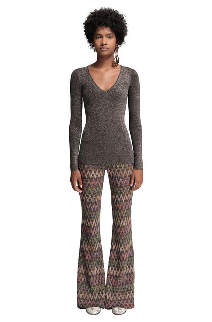 MISSONI V-Neck Dark brown Woman - Back