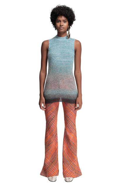 MISSONI Mock polo neck Sky blue Woman - Back