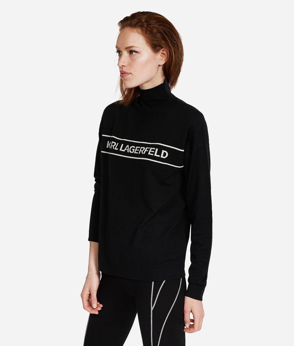 KARL LAGERFELD Logo-Pullover aus Wolle Pullover Damen d