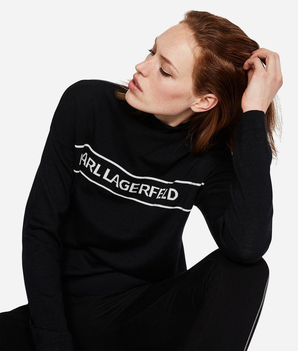 KARL LAGERFELD Logo-Pullover aus Wolle Pullover Damen f