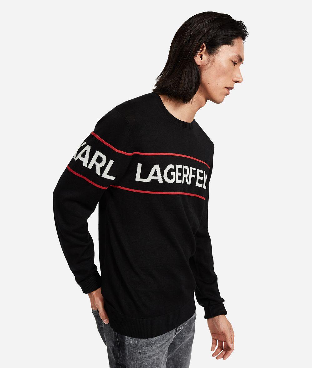 KARL LAGERFELD Wool Logo Sweater Sweater Man d