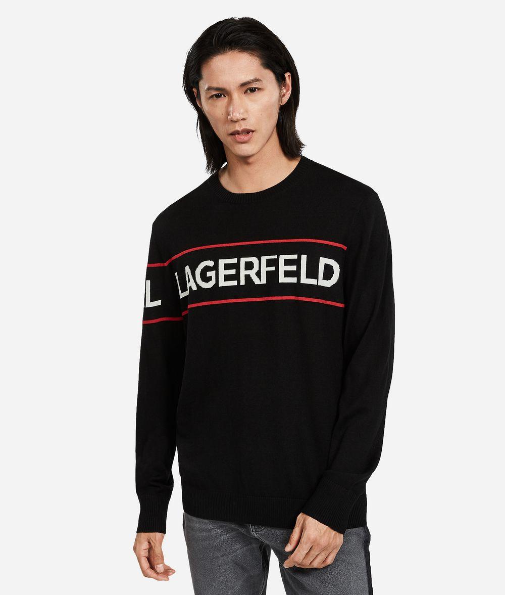 KARL LAGERFELD Wool Logo Sweater Sweater Man f