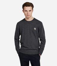 KARL LAGERFELD K/Ikonik Wool Sweater 9_f