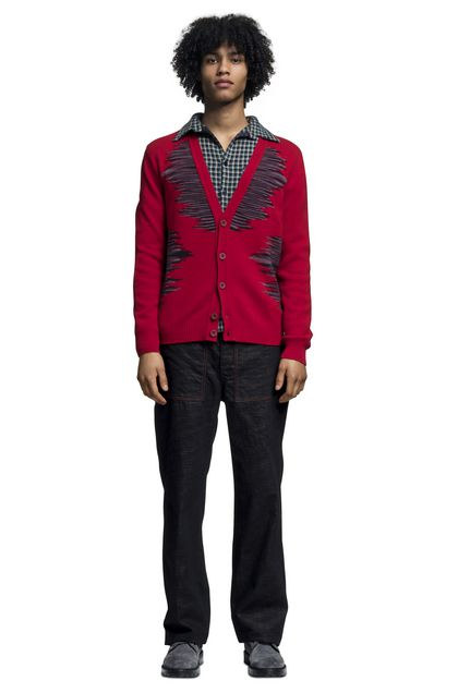 MISSONI Cardigan Red Man - Back