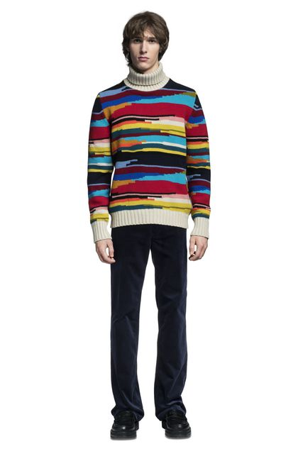 MISSONI Polo neck Beige Man - Back