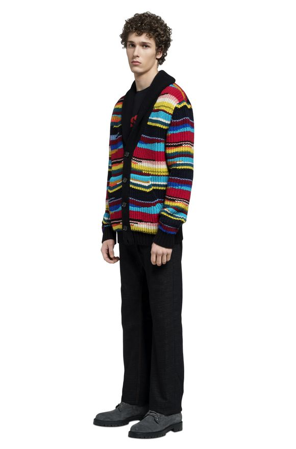 MISSONI Cardigan Uomo, Vista laterale