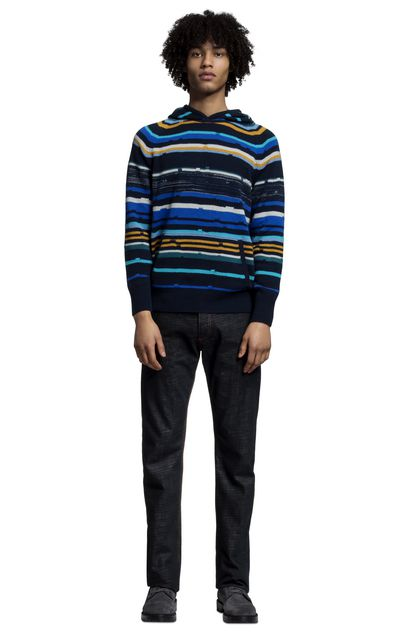 MISSONI Sweater Dark blue Man - Back