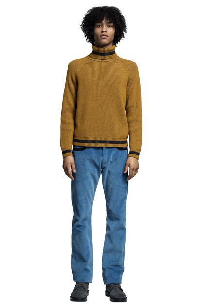 MISSONI Polo neck Ochre Man - Back