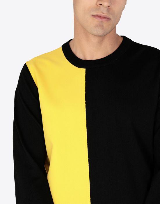 MAISON MARGIELA Two-tone wool pullover Crewneck sweater [*** pickupInStoreShippingNotGuaranteed_info ***] a