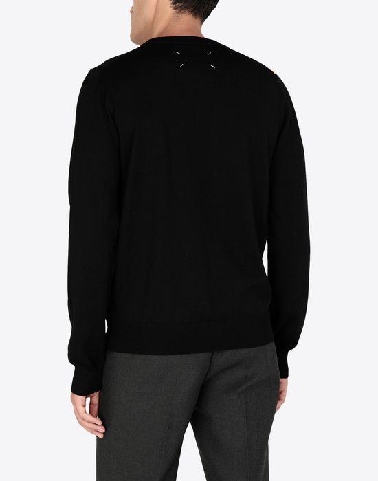 MAISON MARGIELA Two-tone wool pullover Crewneck sweater [*** pickupInStoreShippingNotGuaranteed_info ***] e