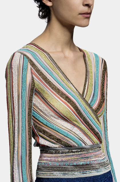 MISSONI V-Neck Turquoise Woman - Front