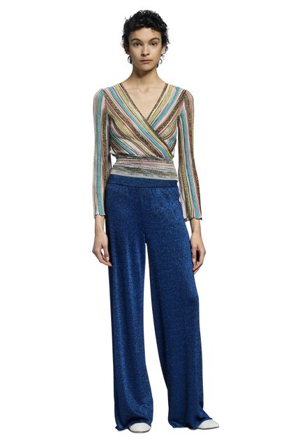 MISSONI V-Neck Turquoise Woman - Back