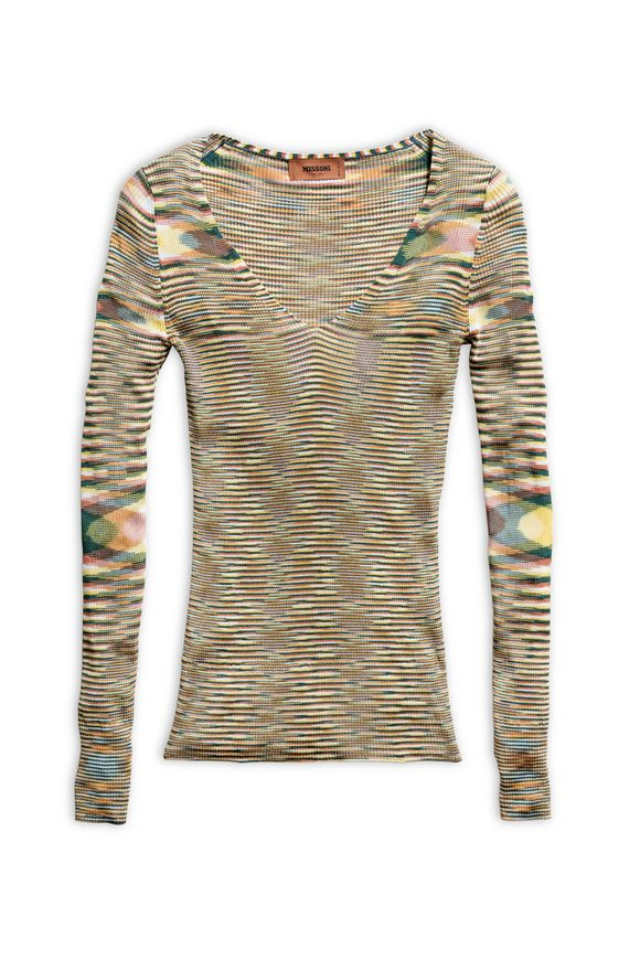 MISSONI V-Neck Yellow Woman
