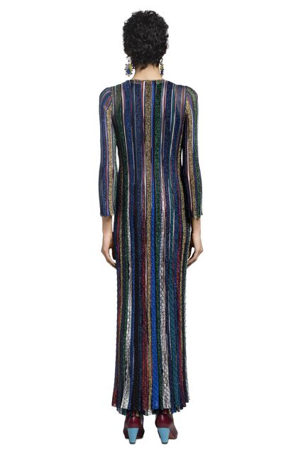 MISSONI Long cardigan Dark blue Woman - Front
