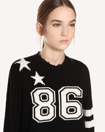 REDValentino QR0KC1E8459 0NO Knit Sweater Woman e
