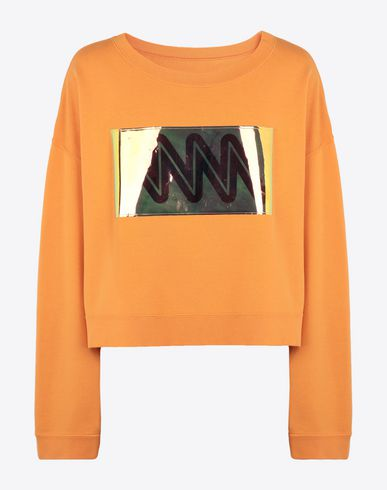 MAISON MARGIELA Sweatshirt [*** pickupInStoreShippingNotGuaranteed_info ***] MM print jersey sweatshirt f