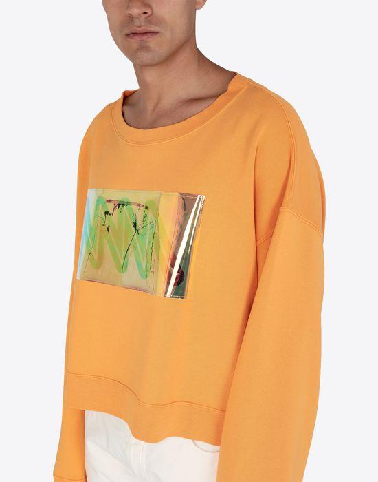MAISON MARGIELA MM print jersey sweatshirt Sweatshirt [*** pickupInStoreShippingNotGuaranteed_info ***] a