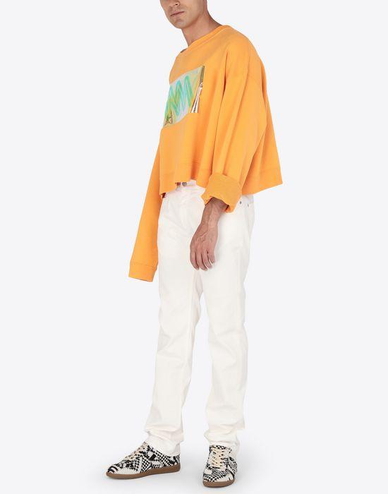 MAISON MARGIELA MM print jersey sweatshirt Sweatshirt [*** pickupInStoreShippingNotGuaranteed_info ***] d
