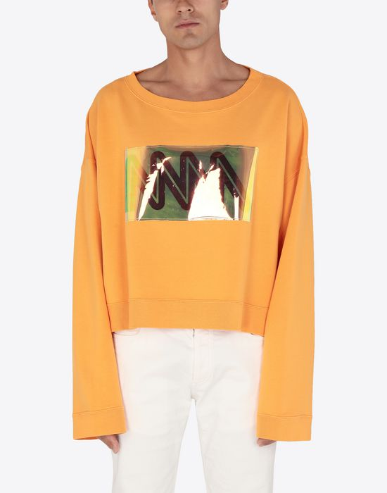 MAISON MARGIELA MM print jersey sweatshirt Sweatshirt [*** pickupInStoreShippingNotGuaranteed_info ***] r