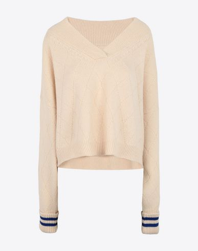 MAISON MARGIELA Long sleeve sweater Woman Cricket cropped top f