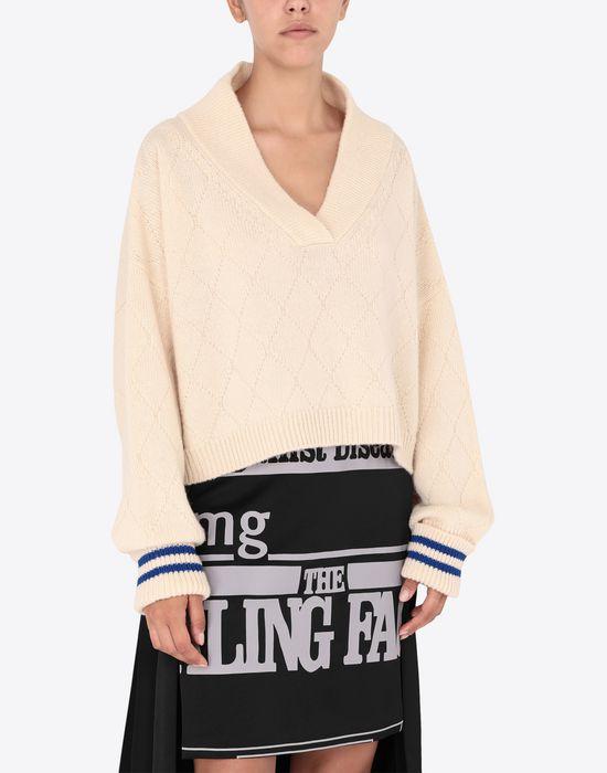 MAISON MARGIELA Cricket cropped top Long sleeve sweater [*** pickupInStoreShipping_info ***] r