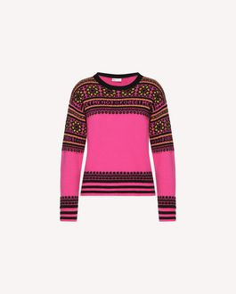 REDValentino Knit Sweater Woman QR0KC08Z467 FA9 a
