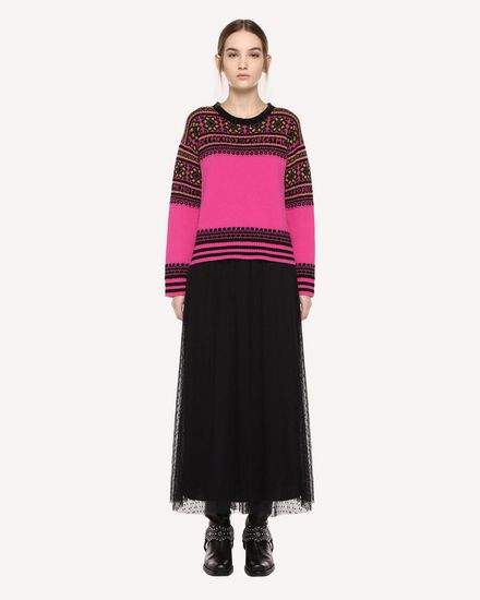 REDValentino Knit Sweater Woman QR0KC08Z467 FA9 f