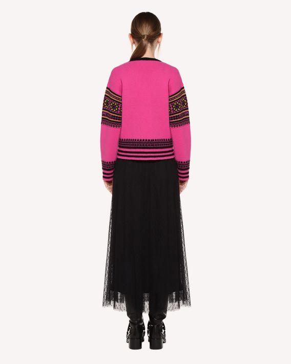REDValentino Pullover aus Wolle mit geometrischem Jacquard