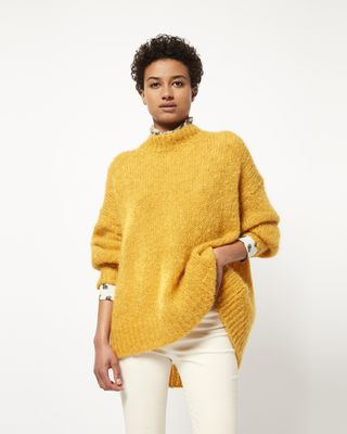 ISABEL MARANT LONG SLEEVE SWEATER Woman IDOL long mohair jumper r