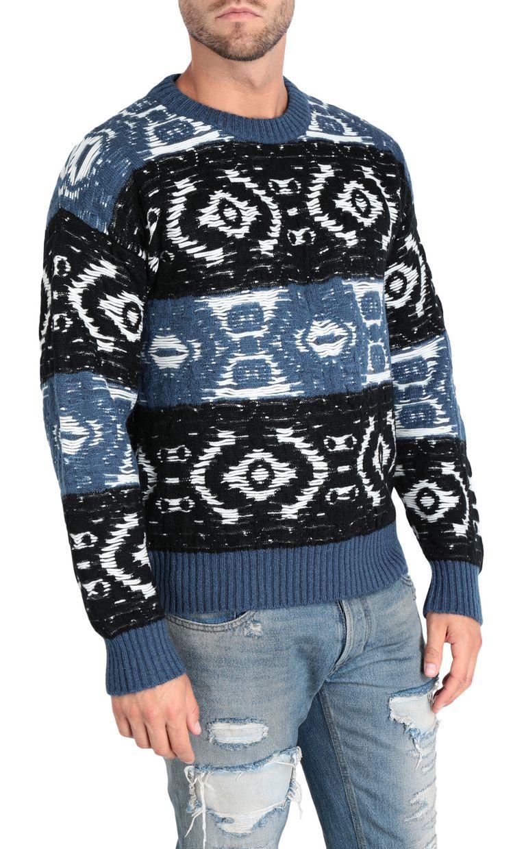 JUST CAVALLI Jacquard carpet pullover Sweater Man f