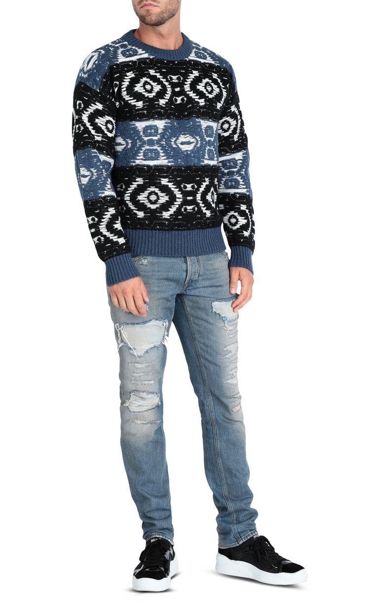 JUST CAVALLI Jacquard carpet pullover Sweater Man r