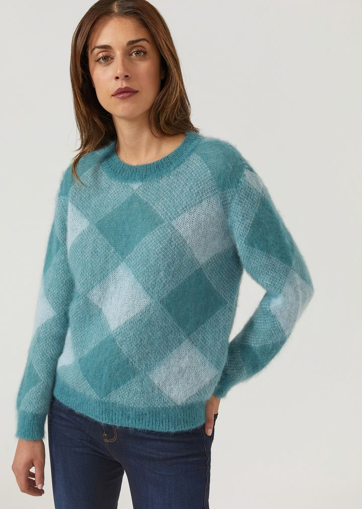 1a90d3886 Jumper with shaded lozenge jacquard design