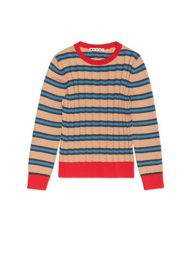 Marni STRIPED WOOL AND COTTON SWEATER Woman - 1