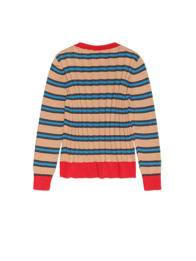 Marni STRIPED WOOL AND COTTON SWEATER Woman - 3