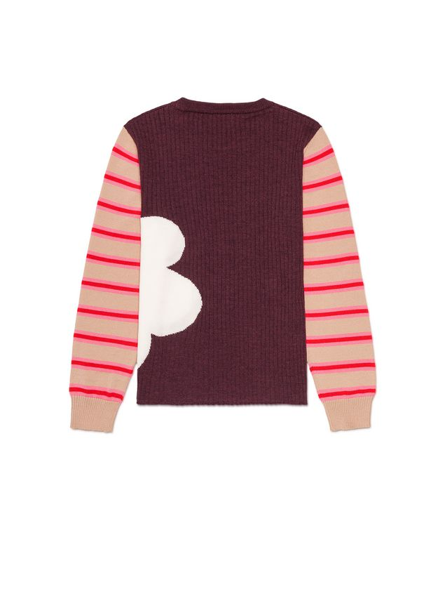 Marni WOOL SWEATER WITH CONTRAST SLEEVES Woman